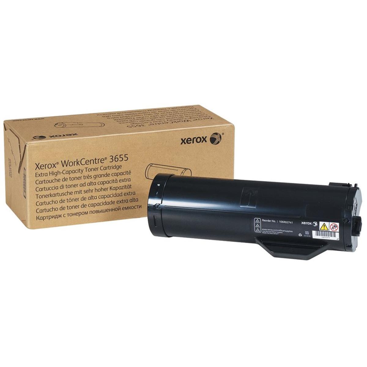 Xerox originální toner 106R02741, black, 25900str., Xerox Workcentre 3655