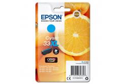 Epson originální ink C13T33624012, T33XL, cyan, 8, 9ml, Epson Expression Home a Premium XP-530, 630, 635, 830
