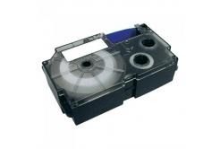 Casio XR-9SR1, 9mm x 8m, čierna tlač/strieborný podklad, originálna páska