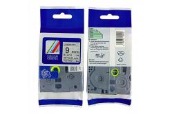 Kompatibilní páska s Brother TZ-M921 / TZe-M921, 9mm x 8m, černý tisk / stříbrný podklad
