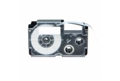 Banda compatibila Casio R7YW 12mm x 2,5m contractabila, text negru / fundal galben
