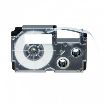 Casio R7YW (XR-12HSYW), 12mm x 2m, černý tisk / žlutý podklad, smršťovací, kompatibilní páska