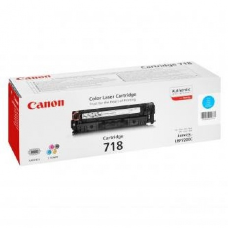Canon CRG-718 cián (cyan) eredeti toner