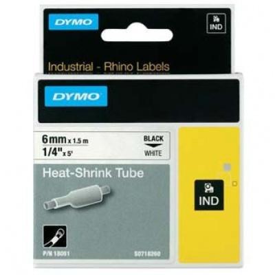 Dymo Rhino 18051, S0718260, 6mm x 1,5m černý tisk / bílý podklad, originální páska