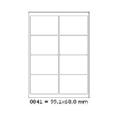 Samolepicí etikety 99,1 x 68 mm, 8 etiket, A4, 100 listů