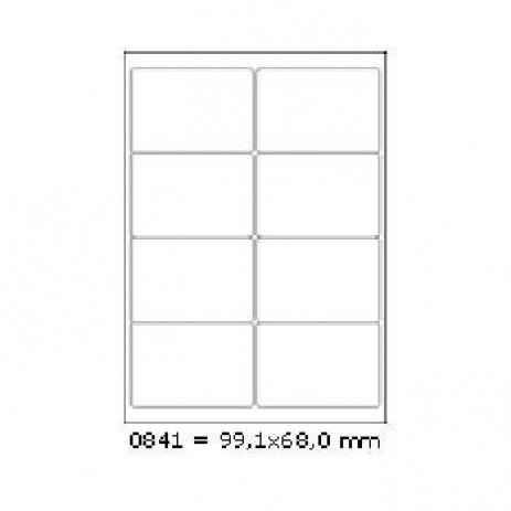 Etichete autoadezive 99 x 68 mm, 8 de etichete, A4, 100 coli