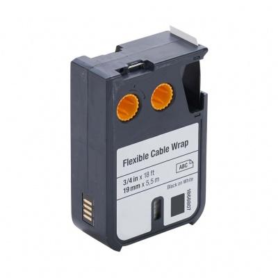 Kompatibilní páska s Dymo 1868807, 19mm x 5, 5m, černý tisk/bílý podklad