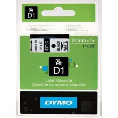 Dymo D1 53713, S0720930, 24mm x 7m černý tisk / bílý podklad, originální páska