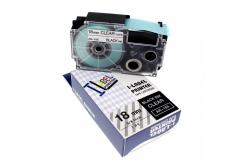 Kompatibilní páska s Casio XR-18X1, 18mm x 8m černý tisk / průhledný podklad