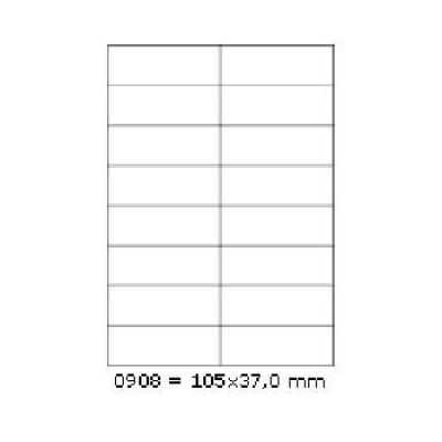 Samolepicí etikety 105 x 37 mm, 16 etiket, A4, 100 listů