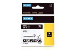 Dymo Rhino 1805437, 9mm x 5,5m, bílý tisk/černý podklad, originální páska