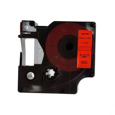 Kompatibilní páska s Dymo 53717, S0720970, 24mm x 7m, černý tisk / červený podklad