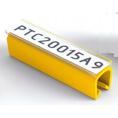 Partex PTC50030A9, bílý, 100ks, (6,0-7,2mm), PTC nacvakávací pouzdro na štítky