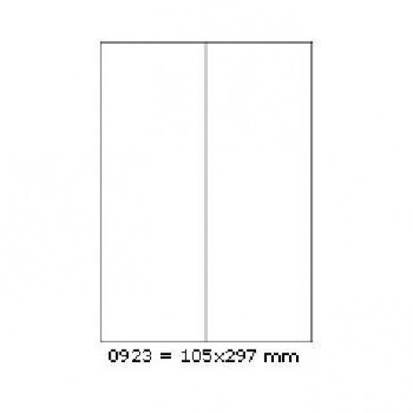 Öntapadós címkék 105 x 297 mm, 2 db / A4, 100 lap