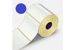 Samolepicí etikety 32x20 mm, 2000ks, modré termo, role