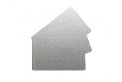 Evolis C4701 CR80 PVC karty, metalická stříbrná, 500ks