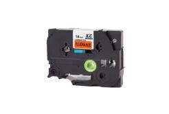 Kompatibilní páska s Brother TZ-B41/TZe-B41, signální 18mm x 8m, černý tisk/oranž. podklad