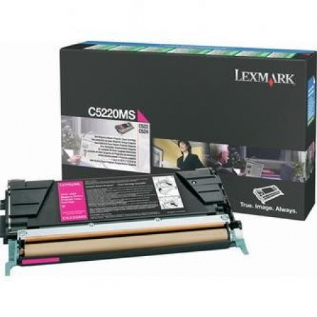 Lexmark C5220MS purpurowy (magenta) toner oryginalny