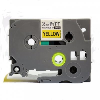 Kompatibilní páska s Brother TZ-FX661/TZe-FX661 36mm x 8m, flexi, černý tisk/žlutý podklad