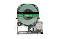 Epson LC-SD36GW, 36mm x 8m, bílý tisk / zelený podklad, kompatibilní páska