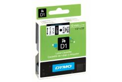 Dymo D1 45013, S0720530, 12mm x 7m černý tisk / bílý podklad, originální páska
