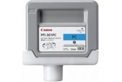 Canon PFI-301PC, 1490B001 foto azurová (photo cyan) originální cartridge