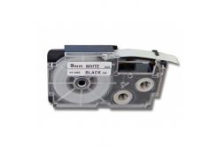 Casio R5WE (XR-9HSWE), 9mm x 2m, ?5mm, černý tisk / bílý podklad, smršťovací, kompatibilní páska