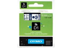 Dymo D1 45011, S0720510, 12mm x 7m modrý tisk / průhledný podklad, originální páska