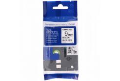 Kompatibilní páska s Brother TZ-FX223 / TZe-FX223, 9mm x 8m, flexi, modrý tisk / bílý podk