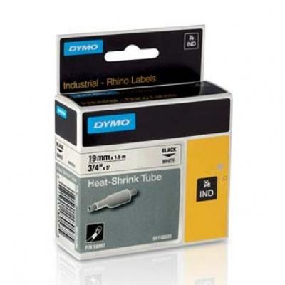 Dymo Rhino 18057, S0718330, 19mm x 1,5m černý tisk / bílý podklad, originální páska