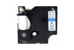 Kompatibilní páska s Dymo 45801, 19mm x 7m, modrý tisk / průhledný podklad