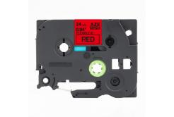 Kompatibilní páska s Brother TZ-FX451 / TZe-FX451, 24mm x 8m, flexi, černý tisk / červený
