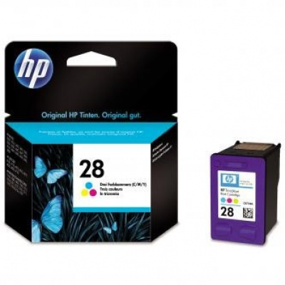 HP č.28 C8728AE barevná originální cartridge, prošlá expirace