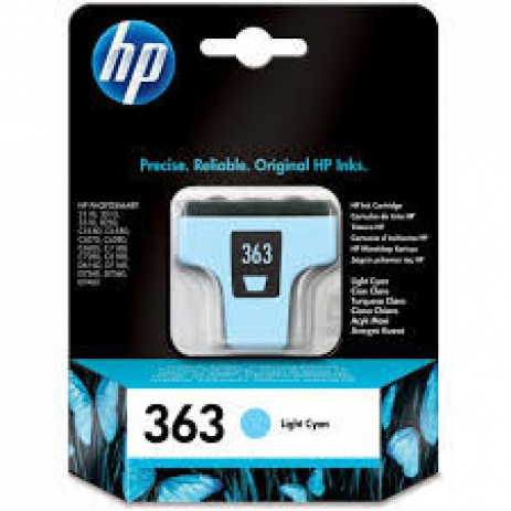 HP 363 C8774EE jasno błękitny (light cyan) tusz oryginalna