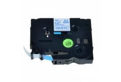 Kompatibilní páska s Brother TZ-233 / TZe-233, 12mm x 8m, modrý tisk / bílý podklad