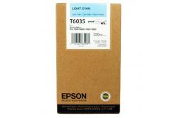 Epson T603500 světle azurová (light cyan) originální cartridge