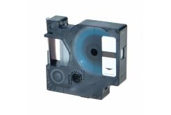 Kompatibilní páska s Dymo 40922, 9mm x 7m, černý tisk / stříbrný podklad