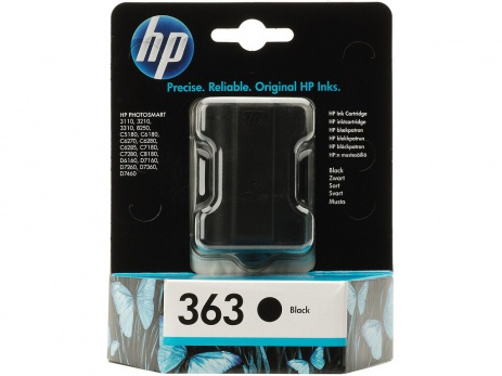 HP 363 C8721EE fekete (black) eredeti tintapatron