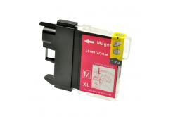 Brother LC-980/LC-1100 purpurová (magenta) kompatibilná cartridge