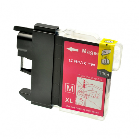 Brother LC-980/LC-1100 magenta compatible cartridge