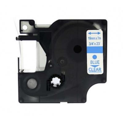 Kompatibilní páska s Dymo 53714, 24mm x 7m, modrý tisk / bílý podklad