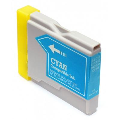 Brother LC-970 / LC-1000C azurová (cyan) kompatibilní cartridge