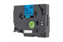 Kompatibilní páska s Brother TZ-FX511 / TZe-FX511, 6mm x 8m, flexi, černý tisk / modrý pod