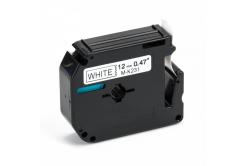 Kompatibilná páska s Brother MK-231, 12mm x 8m, čierna tlač / biely podklad