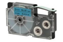 Casio XR-9BU1, 9mm x 8m, text negru / fundal albastru, banda originala