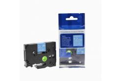 Kompatibilní páska s Brother TZ-535 / TZe-535, 12mm x 8m, bílý tisk / modrý podklad