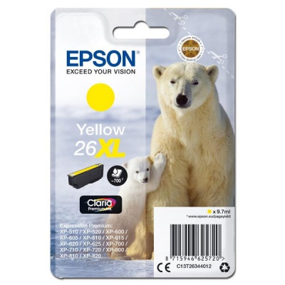 Epson 26XL T2634 žlutá (yellow) originální cartridge, prošlá expirace