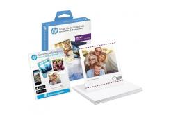 HP W2G60A Social Media Snapshots, bílý lesklý fotopapír, 265 g/m2, 10x13cm, 25 ks