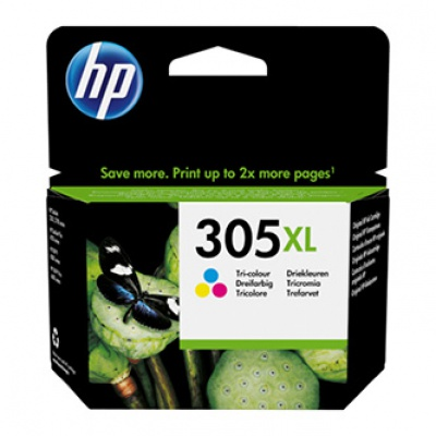 HP 305XL 3YM63AE barevná (color) originální cartridge