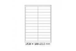 Samoprzylepne etykiety 100 x 23 mm, 24 etykiet, A4, 100 arkuszy